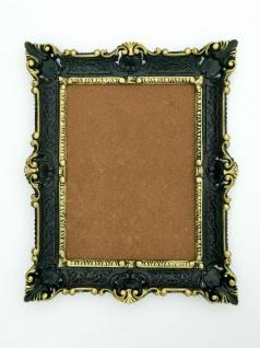 Spiegel Antik Schwarz-Gold Wandspiegel Barock Shabby Chic, Jugendstil 57x47 - Vorschau 4