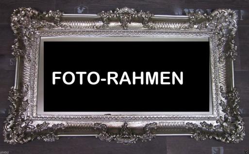 Bilderrahmen Antik Silber 96x57 Spiegelrahmen Gemälderahmen Barock Jugendstil