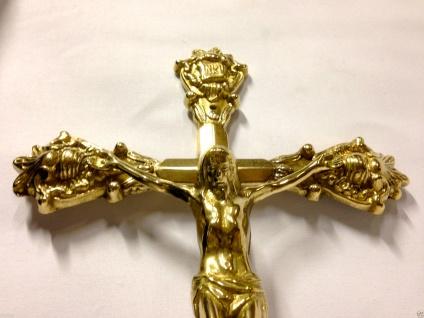 WANDKREUZ Kreuz Kruzifix Messing 33cm JESUS Christus Altarkreuz jesus am kreuz