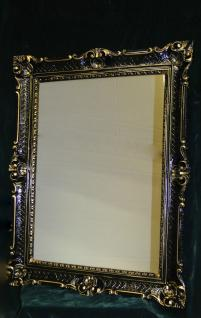 Wandspiegel Barock xxl Spiegel Schwarz-gold hochglanz 90x70 Antik Rahmen