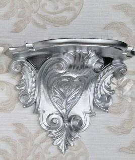 Wandkonsole Konsole Barock Silber 29x25 Wandregale Antik Blumenbank