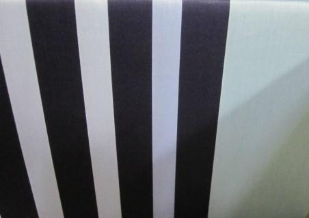 Janine Mako Satin Bettwäsche 140x200 Bettgarnitur Streifen dessin Blau Baumwolle - Vorschau 4