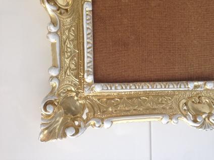 Italienischer Rahmen Gold-Weiß Bilderrahmen Barock 57x47 Antik Fotorahmen Neu - Vorschau 5
