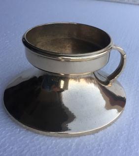 Kerzenleuchter Messing Kerzenständer gold Kerzenhalter mit Hänkel 8, 5 cm 80333