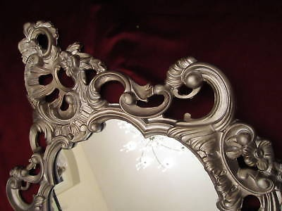 Wandspiegel oval Antiksilber Spiegel Altsiber Badspiegel 50X76 Antik Barock