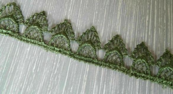 Borte Spitzenband Spitze Spitzenbordüre GRÜN Kissen Gardine Nähen Deko 1, 8 cm - Vorschau 2