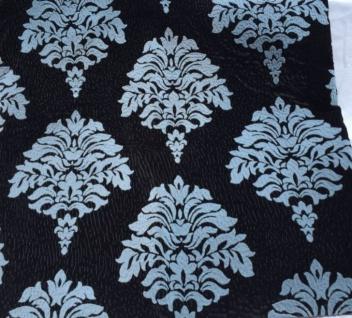 Ornamente Kissenhülle Kissenbezug 45x45 Sofakissen schwarz-hellblau