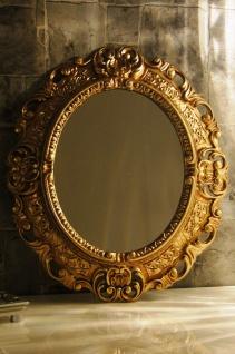 Wandspiegel Spiegel BAROCK Antik GOLD 45x38 Oval Badspiegel Rahmen mirror neu - Vorschau 3