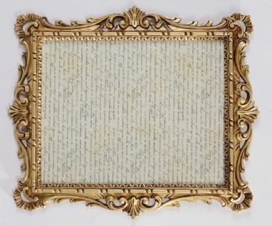 Antik Bilderrahmen Gold mit Glas Barock 43x37 Fotorahmen Photo Frame Jugendstil