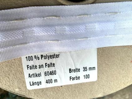 5 Meter Faltenband Gardinenband Kräüselband 35mm Vorhänge Meterpreis 0, 99 - Vorschau 5
