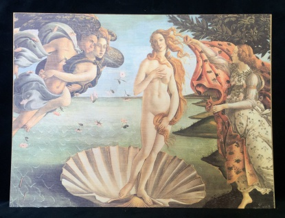 Venus Wandbild 30x40 Kunstdruck auf MDF Platte Die Geburt der Venus Botticelli