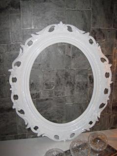 Wanddeko Bilderrrahmen Weiß Spiegelrahmen 58x68 BAROCK Antik Oval Neu 41R