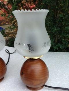 Tisch Lampe Tischlampe Nachtischlampe HOLZ Tischleuchter Design Leselampe NEU