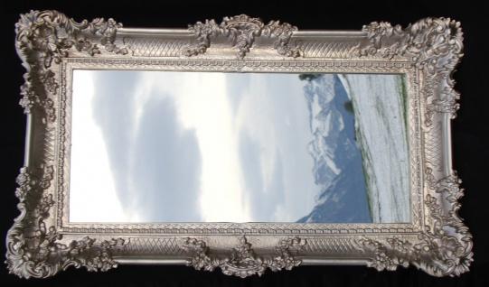 Wandspiegel Shabby 97x58 Spiegel BAROCK Rechteckig Antik Silber Altsilber