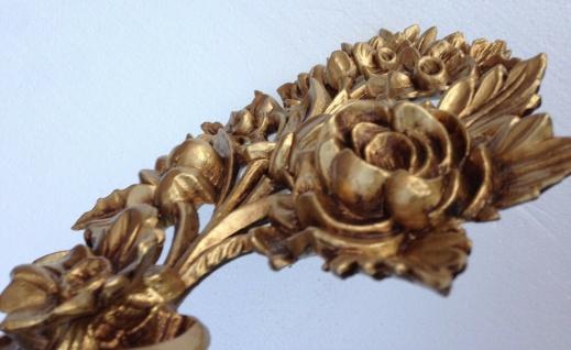 Wanddeko Antik Barock Wandbehang 38x28cm Gold Blumen Wandrelief Tür/Möbel Deko - Vorschau 5