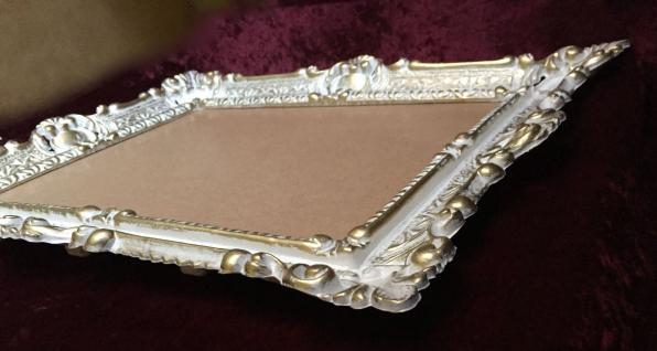 Bilderrahmen Weiß-Gold mit glas 56x46 Gemälde rahmen Antik /Fotorahmen 30x40 - Vorschau 4