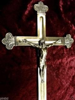 Jesuskreuz WANDKREUZ Kruzifix Messingoptik 30cm JESUS Christus ALTARKREUZ