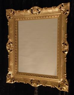 Wandspiegel 90x70 Spiegel BAROCK Rechteckig Antik 1111 GOLD 3