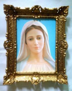 Gemälde Mutter Maria 56cm Madonna Antik Rahmen Maria Mutter Gottes Heilige Bild