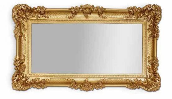 BAROCK Spiegel Wandspiegel Rechteckig Antik Badspiegel Gold Antik 96x57 NEU