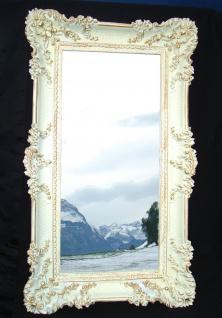 Bilderrahmen Weiß/Gold Barock Gemälderahmen Antik Rokoko 96x57 Rahmen Groß 3074
