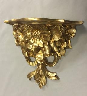 Wandkonsole Antik Gold BAROCK Konsole Deko 28x12 ANTIK Wandspiegel cp 81 Regal