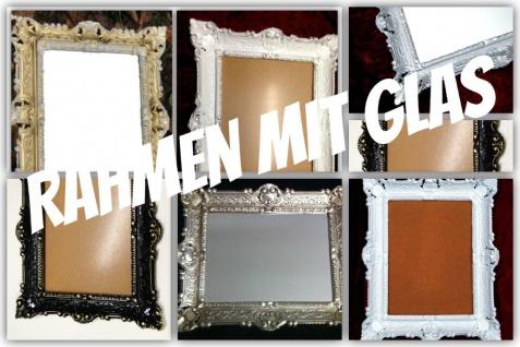 Bilderrahmen mit Glas barock 56x46-30x40 Fotorahmen+GLAS Antik Rahmen wählbar
