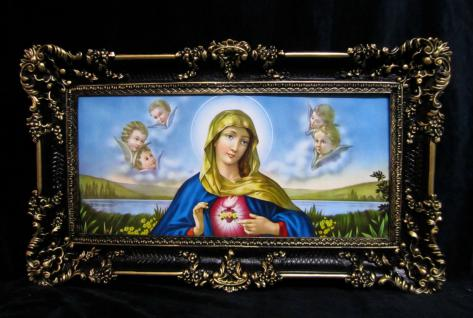Heiligenbild Maria religiöse Bild 97x58 Heilige Maria Madonna Marienbild Gerahmt