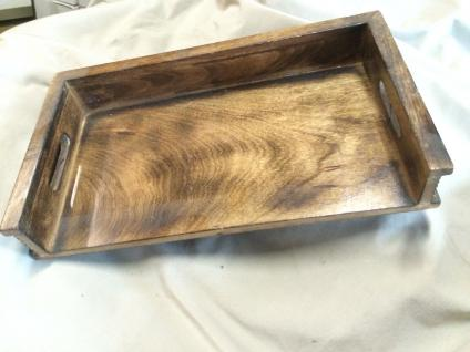 Tablett mit öffnung ServiertablettHolz Shabby Deko Geschenk Küche kiste kasten