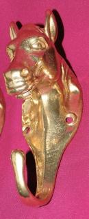 Wandhaken Garderobenhaken Kleiderhaken Antik Messing Gold Pferdekopf NEU13 cm - Vorschau 3