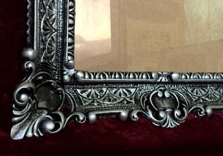 Bilderrahmen Schwarz-Silber Barock+Glas Gemälde/Spiegel/Fotorahmen 56X46 Antik