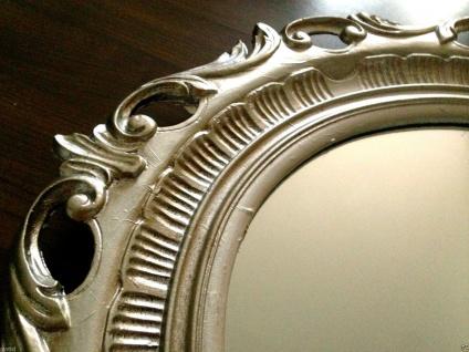 Wandspiegel Silber Frisierspiegel Spiegel oval 68x58 Ovaler Spiegel Badspiegel 2