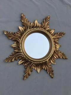 Wandspiegel Antik Gold Sonnenspiegel 50cm Barock Badspiegel Sun Mirror C495
