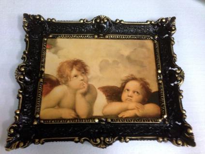 Bild mit Rahmen Gemälde Schwarz-gold barock 56x46 Antik Rahmen Rechteckig 30x40