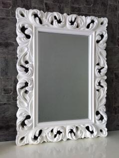 Großer Barock Wandspiegel Ornament 62x85 Standspiegel Spiegel Weiss Flurspiegel