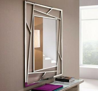 Wandspiegel Silber Edelstahl Antik 100x120 cm BAROCK Modern Spiegel