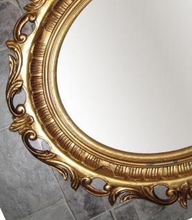 Wanddeko Bilderrrahmen GOLD Spiegelrahmen 58x68 BAROCK Antik Oval Neu 41R