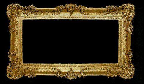 Bilderrahmen Antik Barock Gold Rechteckig WANDDEKO 96x57 bilderrahmen Groß