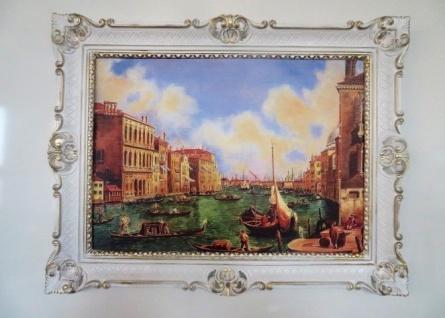 Bilder Gemälde Italien Venezianische Gondeln 90x70 Venedig Boote Bild Gondola Wg