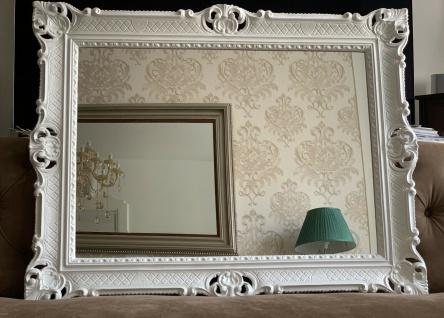 Wandspiegel Weiß Antik Barock Großer Spiegel 90x70 Badspiegel Badspiegel - Vorschau 3