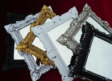 Bilderrahmen Schwarz Antik 45x37 Foto Spiegelrahmen Gothik Gemälderahmen Barock