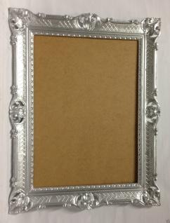 Bilderrahmen Barock Silber Hochzeitsrahmen 90x70 Bilderrahmen groß mit Glas