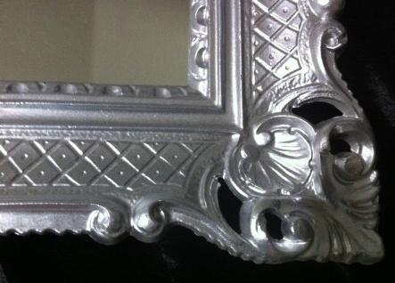 Wandspiegel silber 90x70 Spiegel BAROCK Rechteckig Antik mirror rechteckig NEU - Vorschau 4