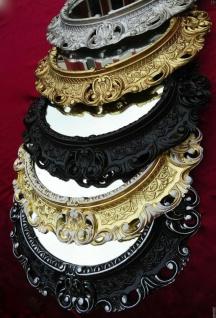 Bilderrahmen Oval Barock Gold Silber Schwarz Weiß 45x38 Fotorahmen Antik Vintage
