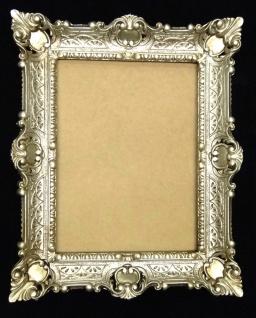 Bilderrahmen Barock Antik Silber 56x46 Fotorahmen Spiegelrahmen Rechteckig 30x40