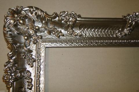 Bilderrahmen Antik Silber 96x57 Spiegelrahmen Gemälderahmen Barock Jugendstil - Vorschau 3
