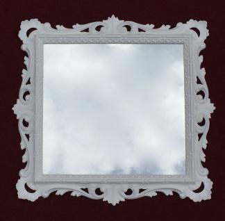 Wandspiegel Barock Weiß mit Glas 38x36 Barspiegel Weiß Hochglanz Antik - Vorschau 4