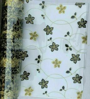 Tischschutz Folie 2mm Meterware Klar Tischdecke Transparent 80-100cm Blume