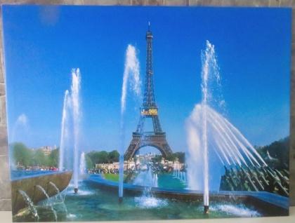 LED Bild mit Beleuchtung Leinwand Paris eiffelturm Wandbild Leuchtbild 60x80