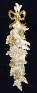 Wanddeko Barock Wandbehang Weiss Gold Deko 60x18cm Wandrelief Deko Antik C1503